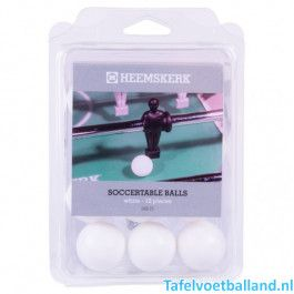 Roberto Sport Tafelvoetbal ballen set glad-wit