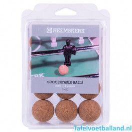Tafelvoetbal ballen kurk